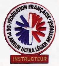 Instructeur Ecusson ULM 02